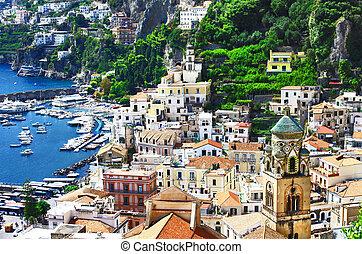 Amalfi, Italy - view of beautiful coastal town Amalfi, Italy