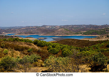 View of beautiful lake in Algarve