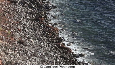 View of beautiful pacific coastline and rocky beach - View...