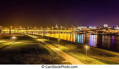 View of Belgrade over the Sava river - Serbia
