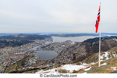 View of Bergen, Norway.