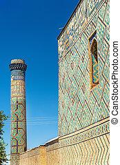 View of Bibi-Khanym Mosque in Samarkand - Uzbekistan