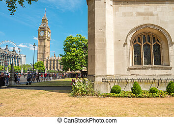 View of Big Ben on a beautiful summer day