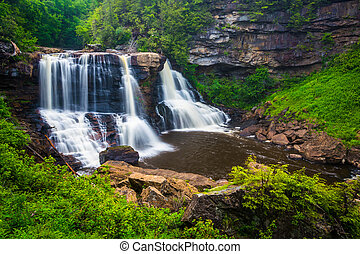 View of Blackwater Falls, at Blackwater Falls State Park, West Virginia.