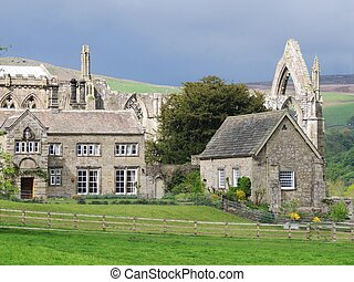 Bolton Abbey, Yorkshire - View of Bolton Abbey, Yorkshire