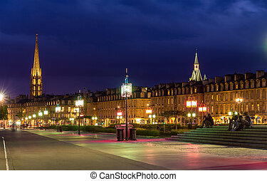 View of Bordeaux in the evening - France, Aquitaine