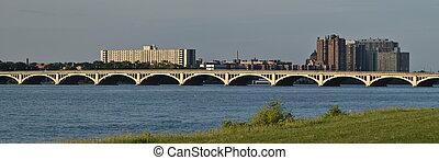 View of bridge in Detroit