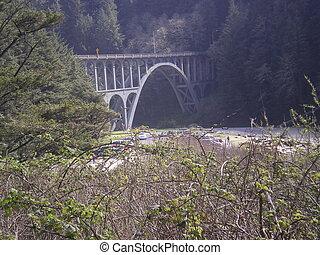 View of bridge over a creek