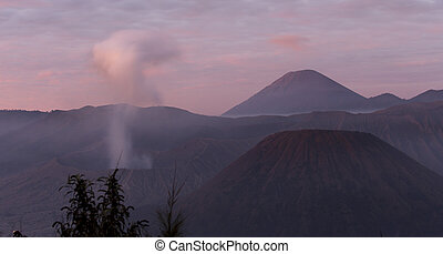 View of Bromo mountain at early morning