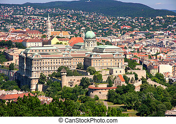 Buda castle, Budapest, Hungary from Citadel
