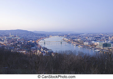 view of Budapest at night, Hungary