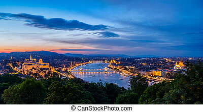 View of Budapest in Hungary