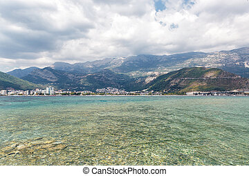 view of Budva from the sea