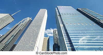View of buildings in Chicago, USA