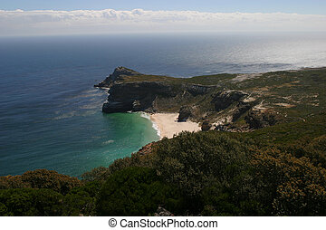 View of cape of good hope in South Africa