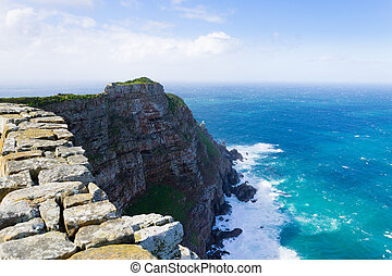 View of Cape of Good Hope South Africa. African landmark....