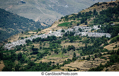 View of Capileira, town in Sierra Nevada, Granada