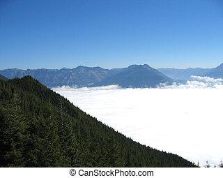 Cascade Mountains - View of Cascade Mountains