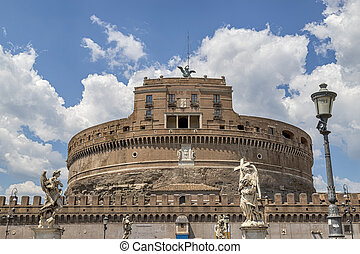 view of Castel Sant'angelo from the Sant'angelo bridge