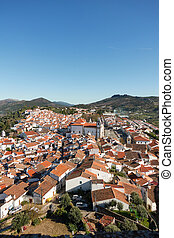 View of Castelo de Vide from the castle, in Portugal