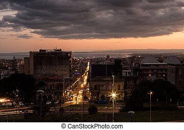 View of Catania - The street of Catania Via Etnea...