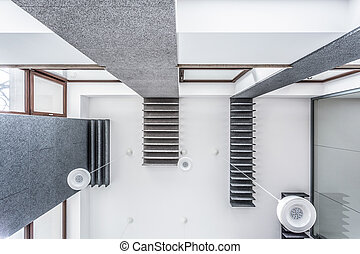 View of ceiling - View from the bottom of high ceiling with...