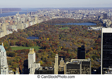 central park - View of central park from the roof of the ...