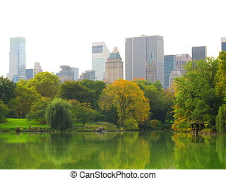 view of Central Park in NY