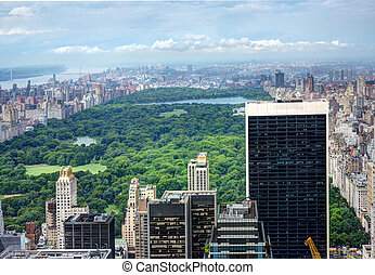 Central Park in NYC - View of Central Park in NYC from Top...