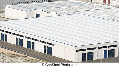 View of Centrovia industrial zone, La Muela, Saragossa province, Aragon, Spainz