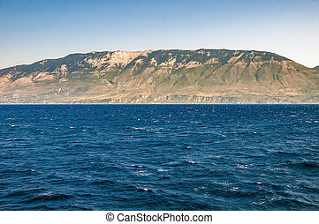 View of Cephalonia Island from the sea