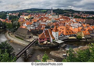 View of Cesky Krumlov, Czech Republic.