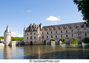 View of Chateau de Chenonceau - Castle Chenonceau. Loire...