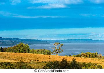 View of Chiloe Island