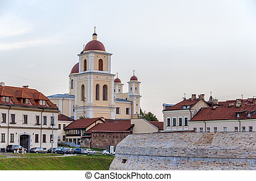 View of Church of the Holy Spirit in Vilnius