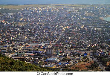 view of city Gelendzhik from the mountain