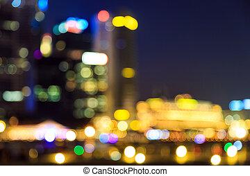lights blurred bokeh background.