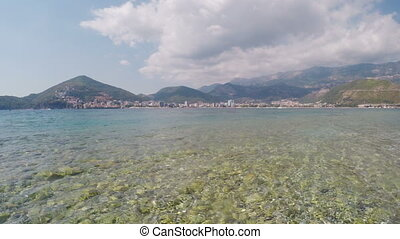 View of City of Budva from Adriatic Sea, Montenegro - View...