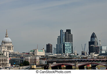 View of City of London from Waterloo Bridge