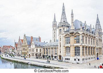 Cityscape of Gent in Belgium