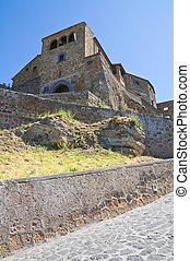 View of Civita di Bagnoregio. Lazio. Italy.