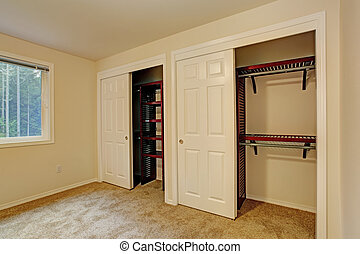 View of closet in bedroom