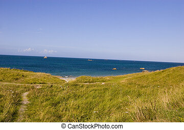 view of coastline in brittany
