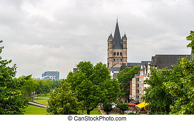 View of Cologne embankment - Germany, North Rhine-Westphalia