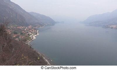 View of Como lake and mountains