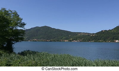 View of Como lake - Panorama of the Como lake, in Italy