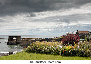 View of Craster Northumberland