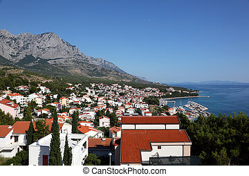 View of Croatian resort Baska Voda. Photo taken at 9th of July 2011