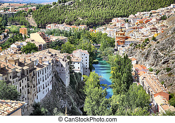 Cuenca - View of Cuenca and Jucar river, Castilla La Mancha...