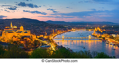 Danube and Budapest city
